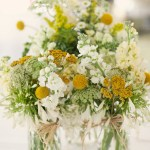 Whimsical Spring Wedding Flowers And Wedding Reception Centerpieces