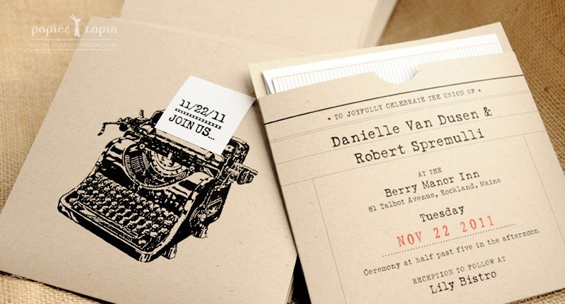 Vine Chic Eco Friendly Wedding Save The Dates With Urban Nyc Design