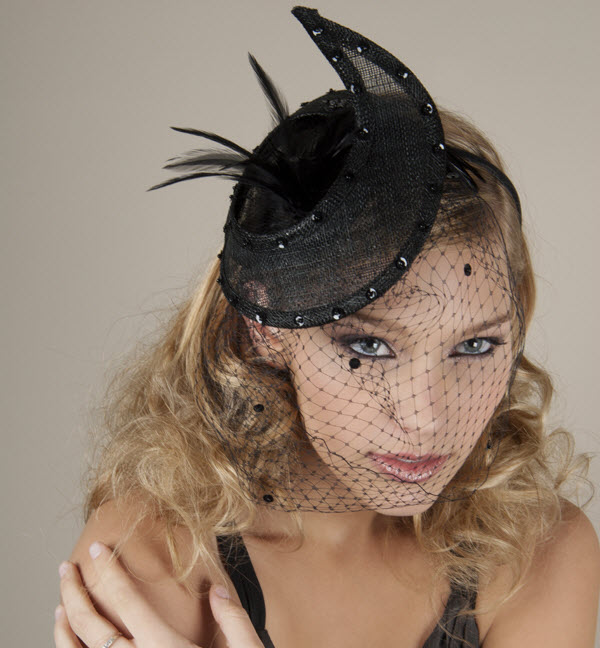 Dramatic Black Crescent Hat Wedding Guest Accessories