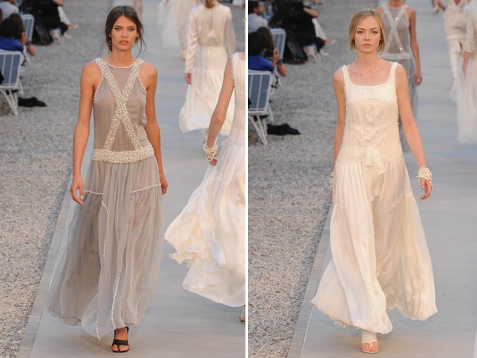 Grecian-inspired Chanel 2012 Gowns For A Beach Or