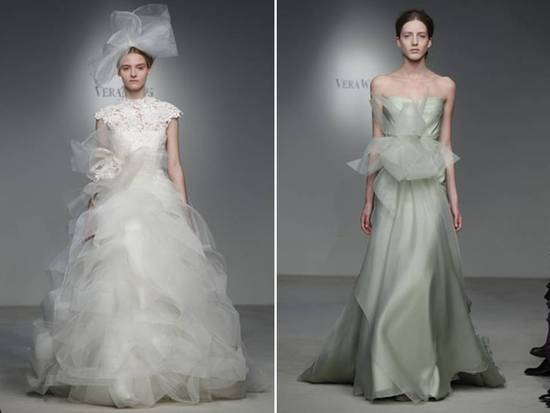 Haute Couture-inspired Vera Wang Ballgown And Moss Green