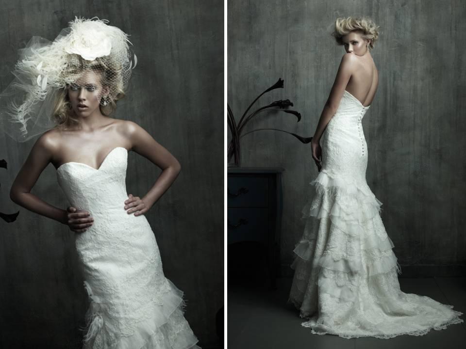 Romantic Ivory Metallic Lace Wedding Invitations