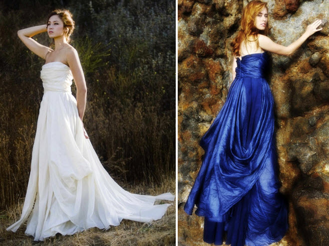 Eco-chic Strapless A-line Wedding Dress By Puridee