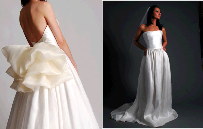Chic And Classic Ivory Strapless Princess Wedding Dress