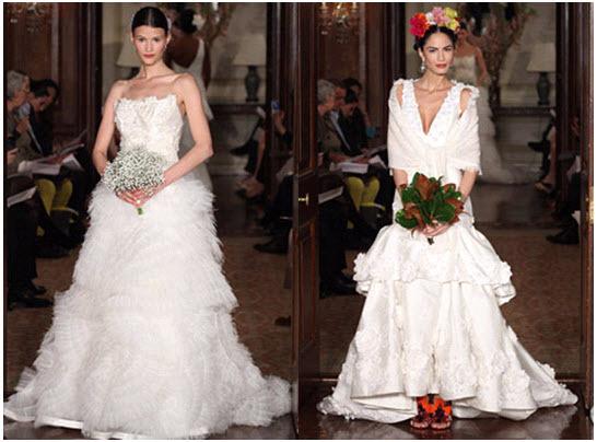 Dramatic Spring 2011 Wedding Dresses From Carolina Herrera