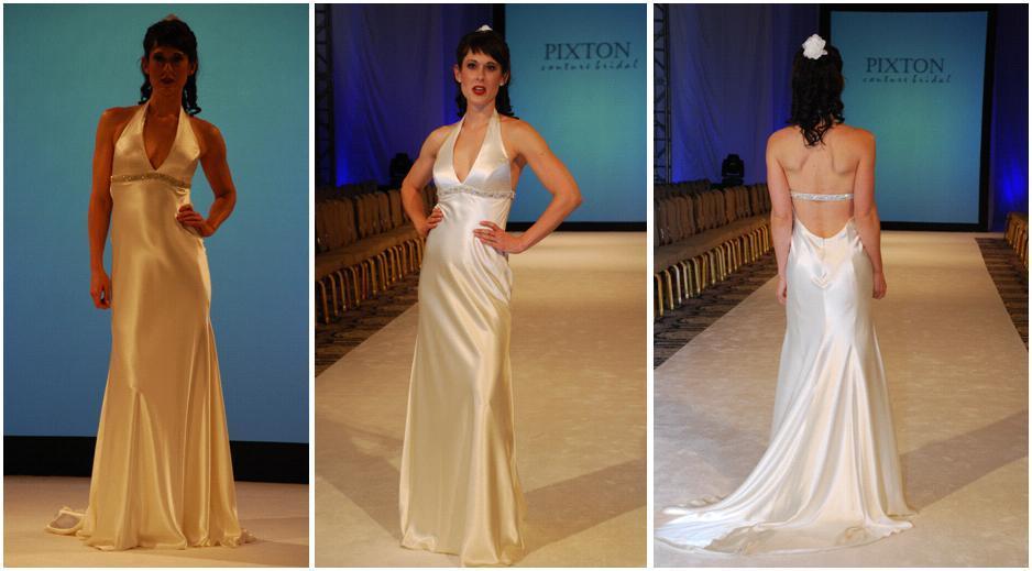 Sexy Heavy Silk Charmeuse Wedding Dress, Deep V Front