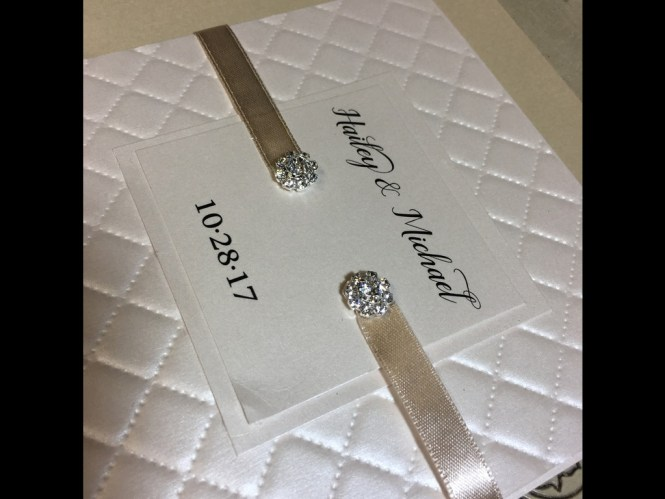 Jeweled Wedding Invitation