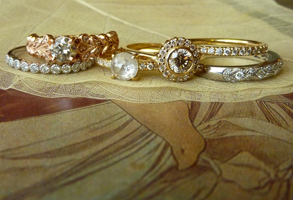 unique engagement rings wedding bands on etsy yellow rose ...