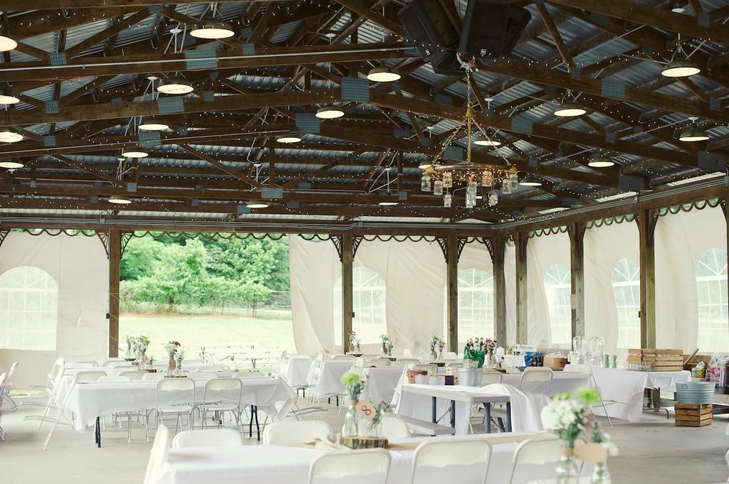 Elegant Rustic Wedding Real Wedding Photos Tent Indoor