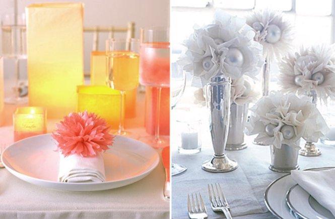 Wedding Table Decorations Pinwheels Centerpiece Ideas