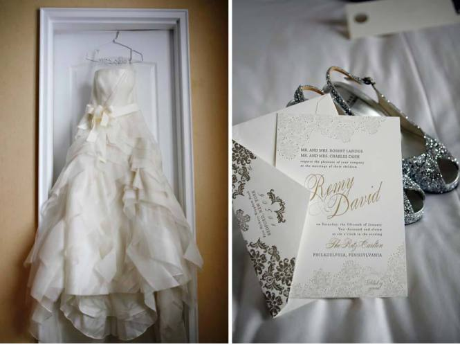 Elegant Foil Stamped Wedding Invitations Inspired By Vera