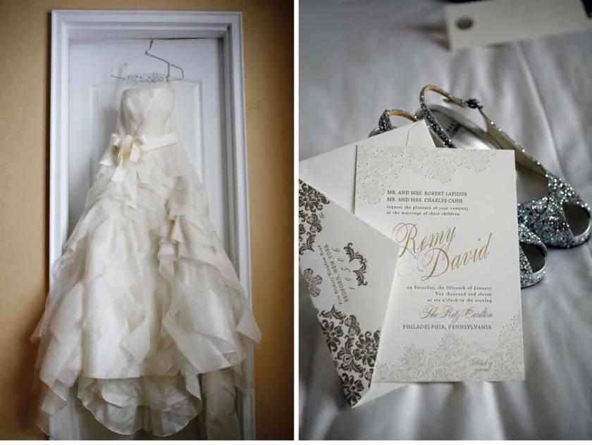 Elegant Foil Sted Wedding Invitations Inspired By Vera Dress