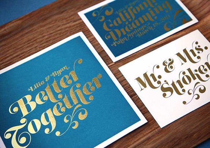 Foil Pressed Wedding Invitations Diy Invitation Ideas