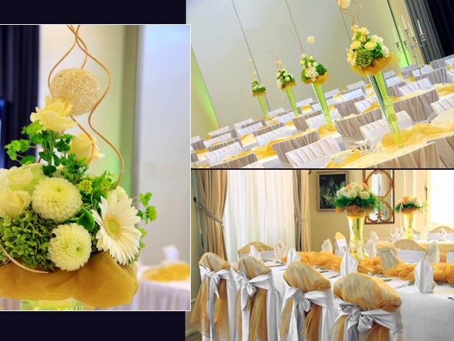 White Carnation Bouquet Centerpieces