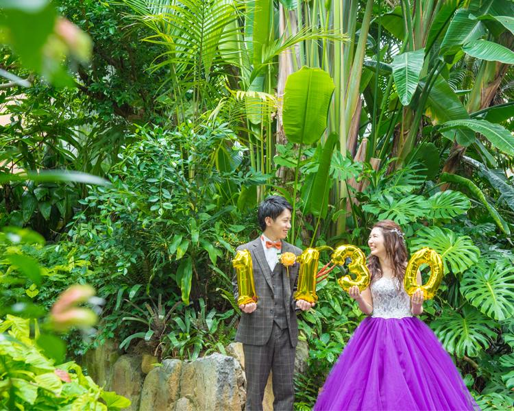福岡 植物園での前撮り│福岡の前撮り・フォトウェディングはTHE WEDDING TOWN