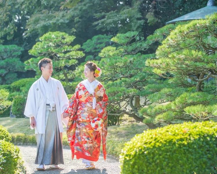 福岡 日本庭園での前撮り│福岡の前撮り・フォトウェディングはTHE WEDDING TOWN