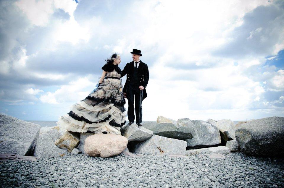 Eine fantastische Gothic-Hochzeit auf Rügen