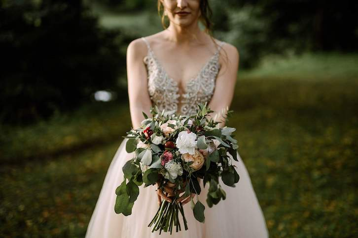 wesele rustykalne bukiet