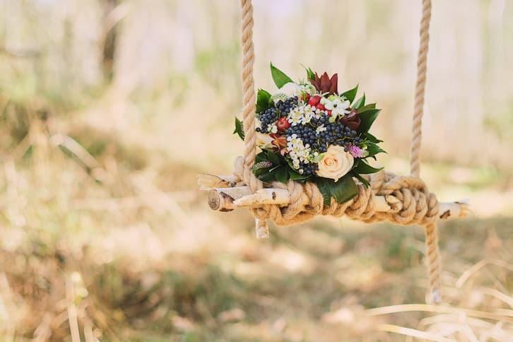 dekoracje bukiet wesele rustykalne