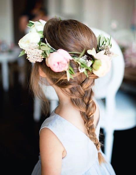 fryzura dziewczynka wianek rustykalne