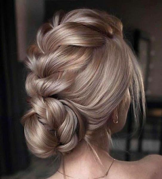 fryzura wesele upięcie warkocz