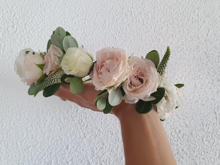 kwiaty na wesele wianek panna młoda