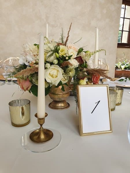dekoracje na wesele złoto