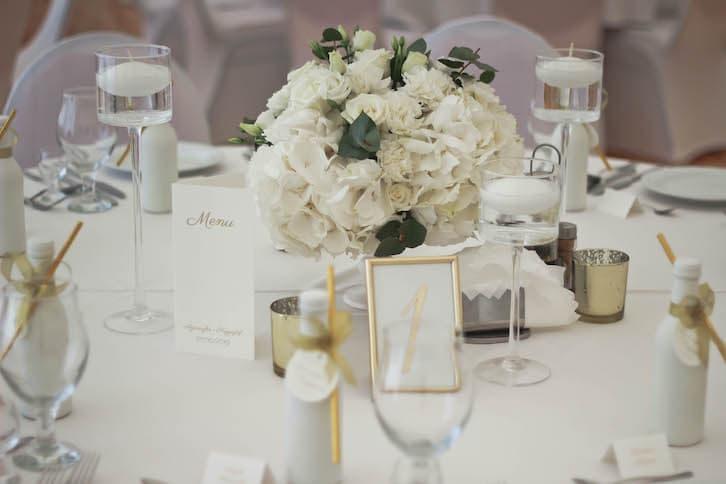 kwiaty na wesele glamour
