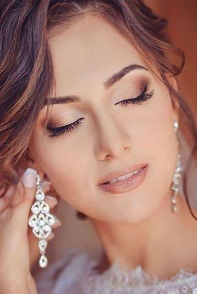 makijaż na ślub dla brunetek