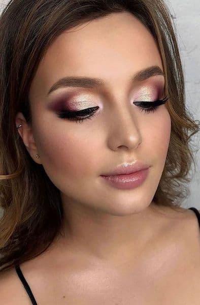 makijaż dla brunetek cienie
