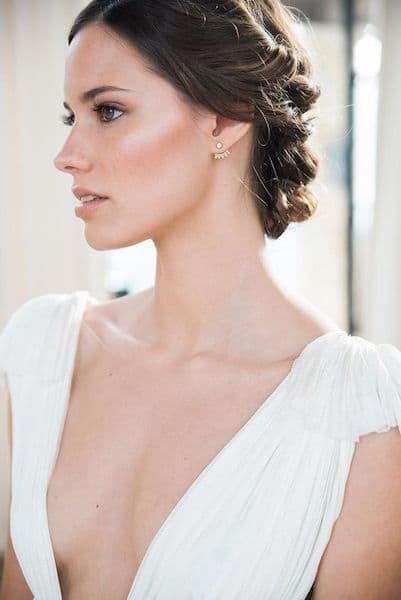 makijaż panna młoda rustykalny delikatny perłowy