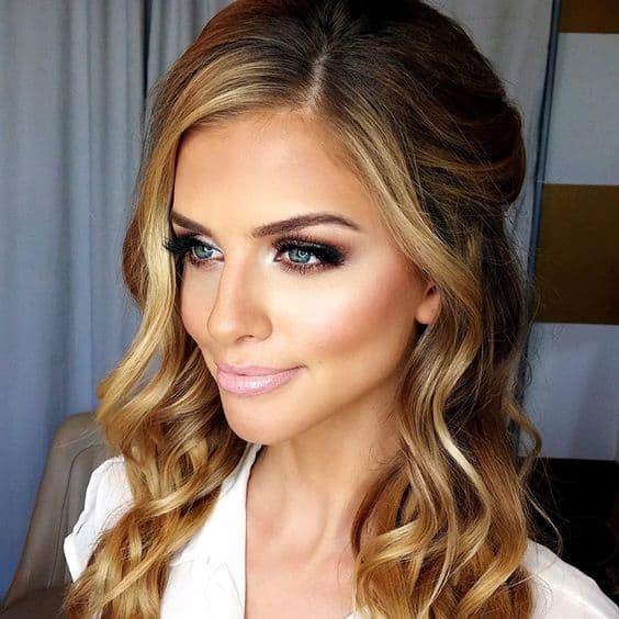 makijaż panna młoda blondynka typ wiosna oczy