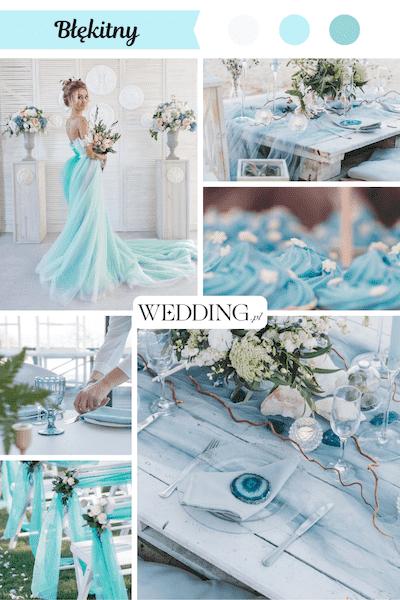 kolor przewodni wesela błękitny