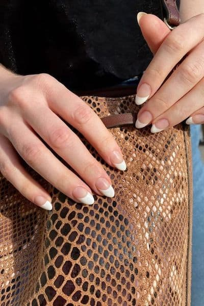 manicure wesele french