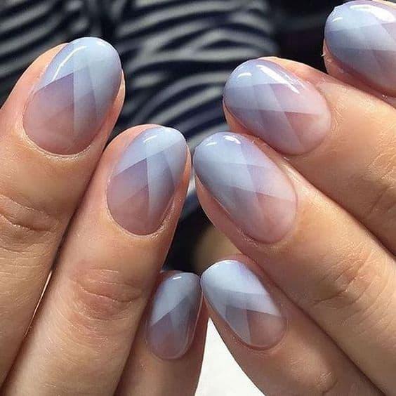 paznokcie na wesele geometryczne wzory niebieskie błękitne
