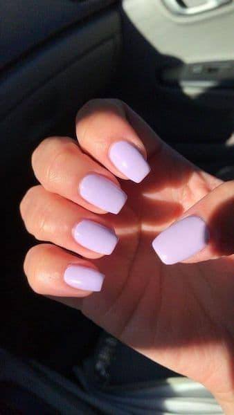 paznokcie ślubne liliowe fioletowe lawendowe