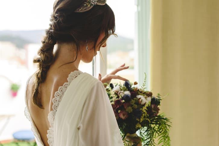 panna młoda rustykalna bukiet ślubny