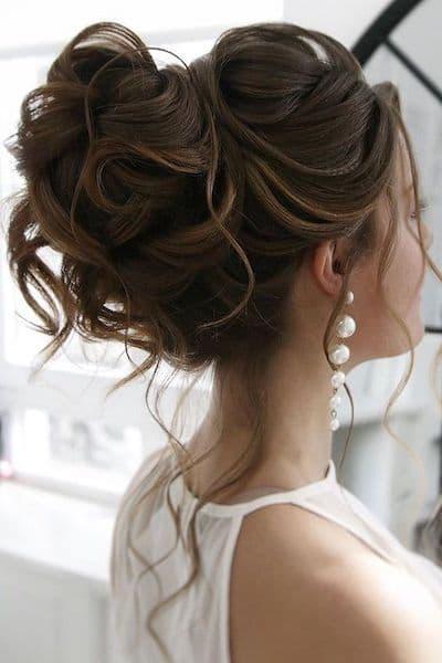upięcia na wesele z loków luźne