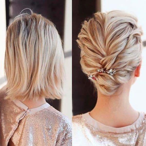 upięcia ślubne krótkie włosy jak zrobić