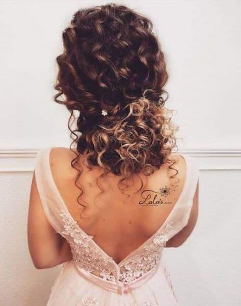 upięcia ślubne kręcone włosy