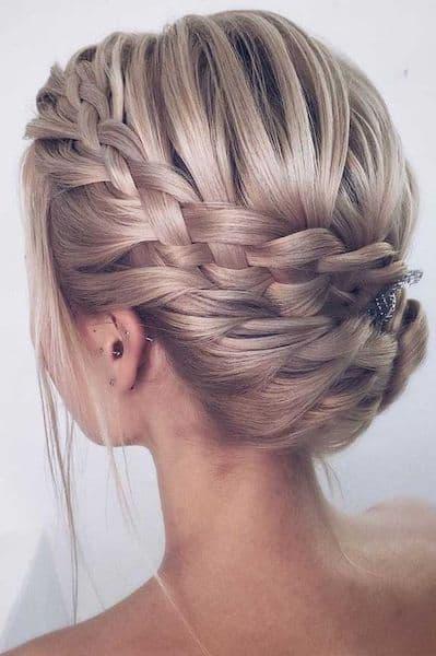 upięcia ślubne warkocz krótkie włosy