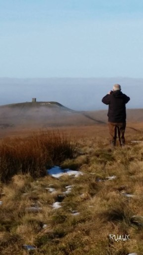 David photographing Rivington Pike Horwich