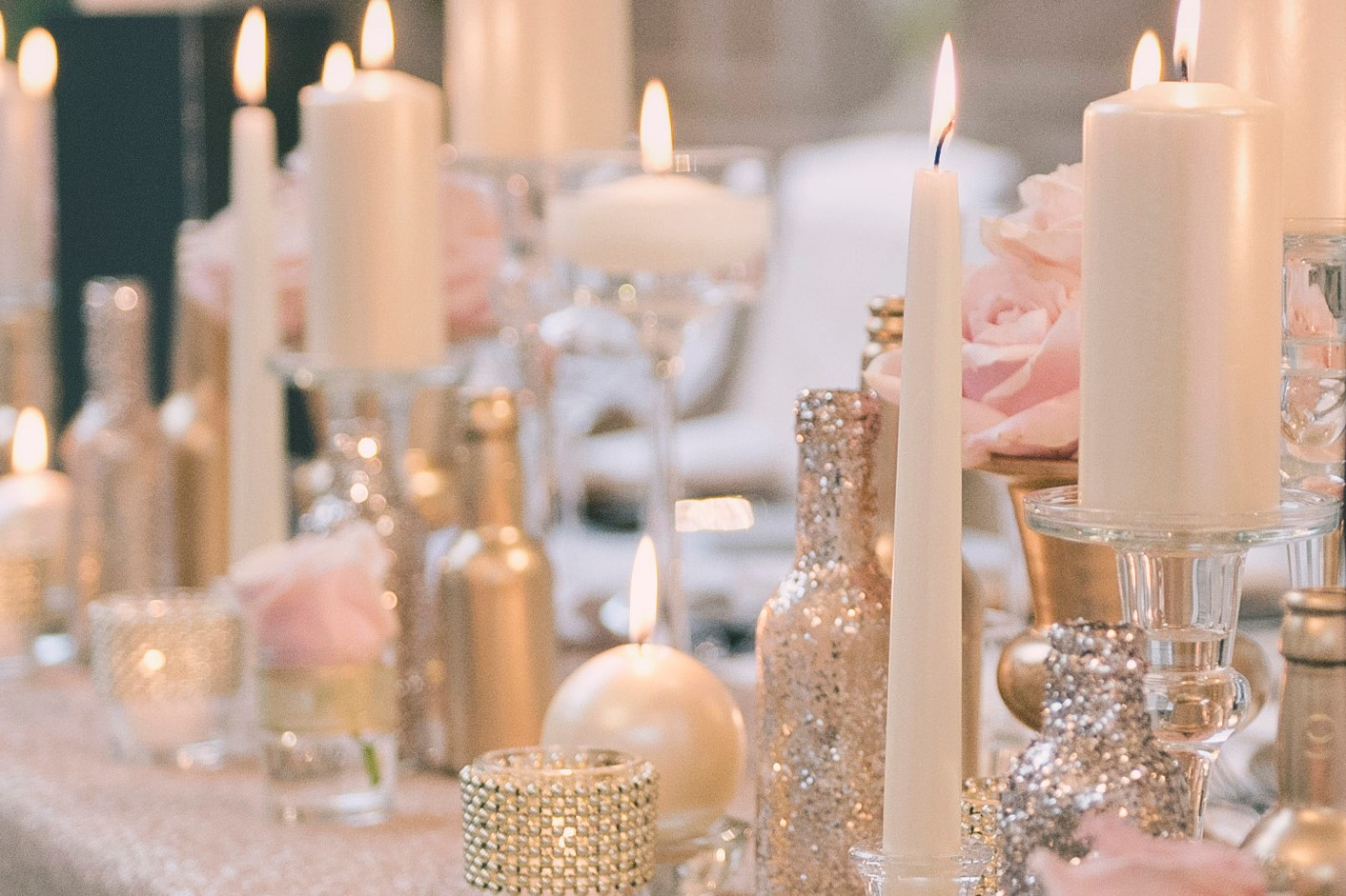 Wedding Events Floral Design Stunning Champagne Gold Themed