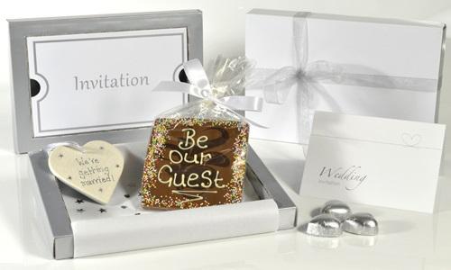 Wedding Invitation Chocolate Heart New