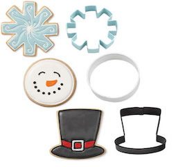 Wilton Christmas Snowman Metal Cookie Cutter Set Image