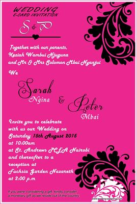 Wedding Ecard Invitation Cards Kenya