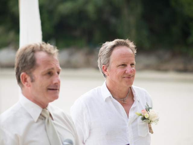 Marriage Celebrant Paul Cunliffe and James on Kata Beach