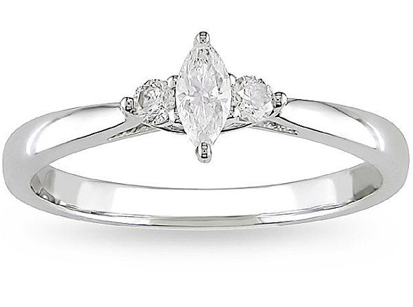 10k white gold 14ct tdw diamond engagement ring - Perfect Wedding Ring