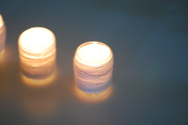Beautifully glowing votive candle holders