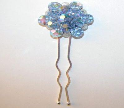 Blue Crystal Bridal Hair Pin